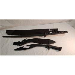"South African Sword in Sheath 36"" & Kukri 21"" in Sheath"