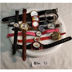 7 Mickey Mouse Watches, 1 Mini Mouse, 1 Ladybug, 1 Cinderella, 1 Betty Boop & Lucy
