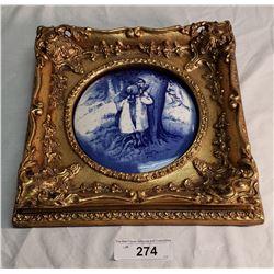 Royal Doulton, Children in the Woods Plaque, 6 1/2 in Diameter