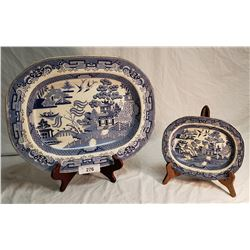 2 Staffordshire Stone China Platter
