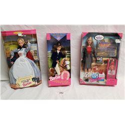 3 Barbies in Original Packaging