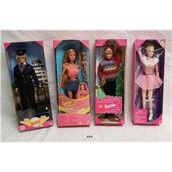 4 Barbies in Original Packaging