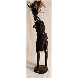 African Warrior Wooden Figure