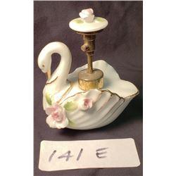 Antique Porcelain Swan Perfume Optimizer Flora Plunge