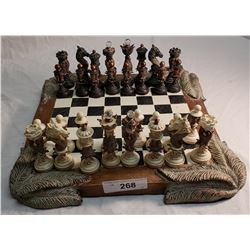 Fancy Ornate Composition Chess Set
