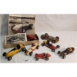 7 Assorted Race Car Assembled Models