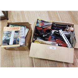 Lot of Model Aircraft Magazines & Box Lot of Model Railroad Toys