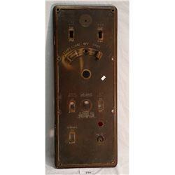 1920's Vintage Elevator Button Control Panel, Bronze