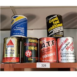 6 Various Vintage Oil Cans