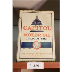 Large Square Capitol Oil Can