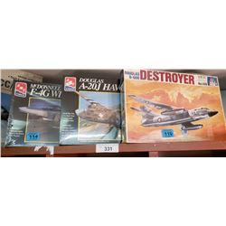 3 Model Kits, All Military Aircrafts