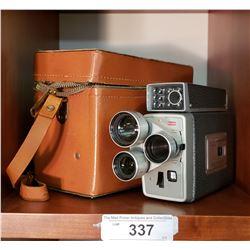 Kodak Movie Camera in Leather Case