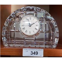 Mikasa Crystal Quartz Desk Clock