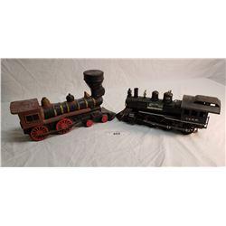 2 Jim Beam Locomotive Liquor Decanter