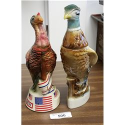 Wild Turkey Decanter & Pheasant Decanter