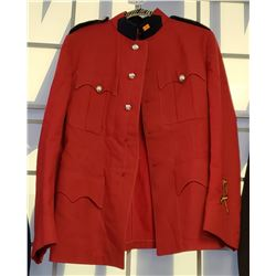 Red RCMP Jacket, Size 40