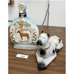 Great Dane Decanter & 95th Churchill Down Decanter
