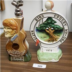 Glen Campbell Decanter & Bing Crosby Pro-AM Decanter