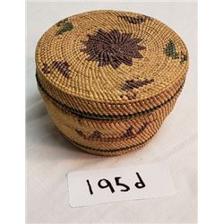 Nuu Chah Nulth Decorated Lidded Basket