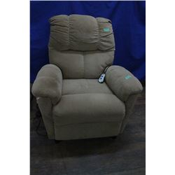 Recliner - Beige Fabric - Electric Lift - Working **Cat has damaged fabric ** Must Pick Up