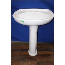 Pedestal Bathroom Sink - White - Must Pick Up