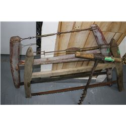 Log Auger & 2 Buck Saws ** Must Pick Up