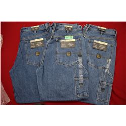 Carpenter Denim Jeans - Good Quality - Relaxed Fit ** Size 34 Waist/32 Leg - 3 prs (One Money)