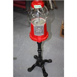 Gum Ball Dispenser on a Cast Iron Stand