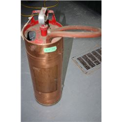 Hand Pump, Copper Fire Extinguisher ** Must be Picked Up