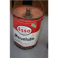 Esso Marvel Lube 5 Gallon Can - 20 - 20 W