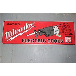 "Milwaukee Tools Metal Sign - 12"" x 40"""