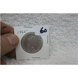 Canada Fifty Cent - 1965 - Silver - Uncirculated