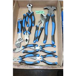 Flat w/Mastercraft Pliers & Adjustable Wrench