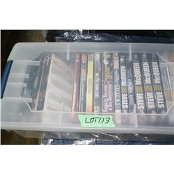 Clear Tote w/20 DVD Movies