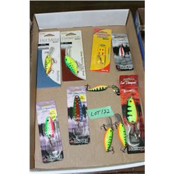 Flat of Len Thompson Spoon & Crank Bait Lures