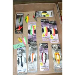 Flat of Len Thompson Spoon Bait Lures