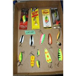 Flat of Spoon Bait Lures