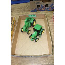 2 Toy John Deere Tractors - not Ertl