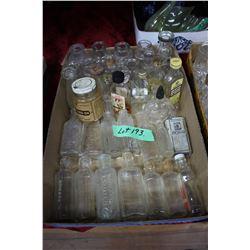 Flat w/Small Medicine Bottles & Flavouring Bottles