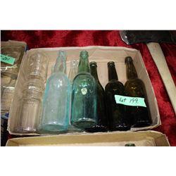 Flat w/Old Bottles