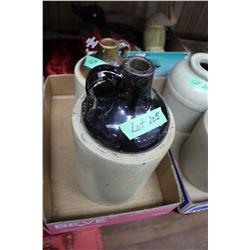 Flat w/2 Crockery Jugs - 1 is a Gallon & 1 is a 1/2 Gallon