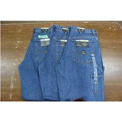 Carpenter Denim Jeans - Good Quality - Relaxed Fit ** Size 34 Waist/34 Leg - 3 prs (One Money)