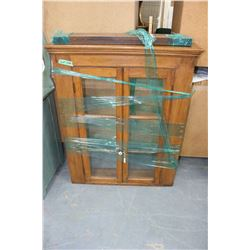 Canadiana Wall Cabinet w/3 Shelves - Good Condition