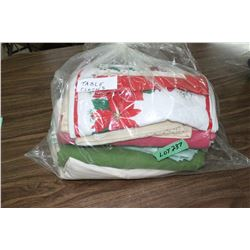 Bag of Table Cloths & Place Mats