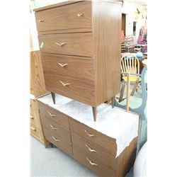 Six Drwr Dresser (1960's Style) & 4 Drwr Hi Boy