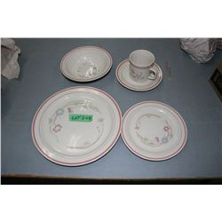 Everyday Dish Set w/12 Plates, 12 Side Plates, 12 Bowls, 9 Cups-12 Saucers