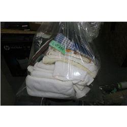 Bag of Pot Holders & Dish Towels and a Bag of Towels