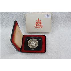 1971 Canada Silver Dollar - B.C. - Uncirc. - In a Clam Shell
