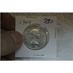 1964 Canada Silver Fifty Cent Coin