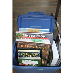 Small Tote w/9 Books (Cdn Railroads, Tree Stand Hunting,Wilderness 1st Aid,etc.)